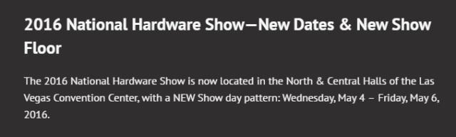 National Hardware 2016