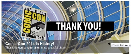 ComicCon 2015 thanks 2014