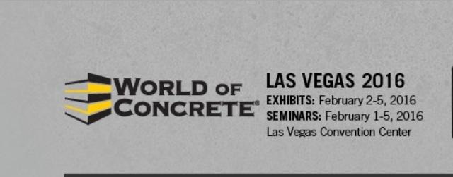 World of Concrete 2016