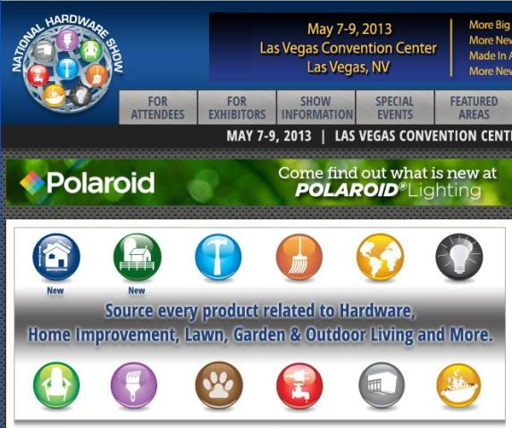 National Hardware Show May 7-9, 2013